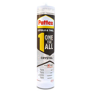 Pattex One For All Crystal 290g transparentní
